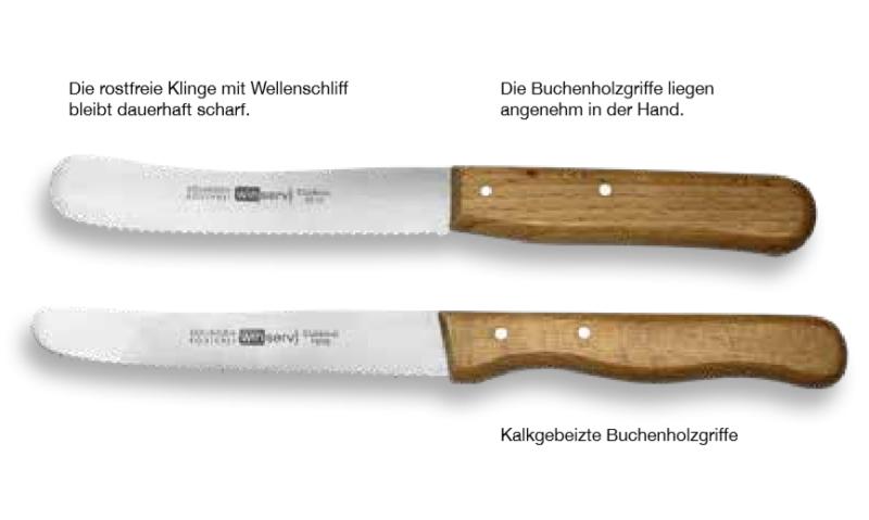 Messer mit Holzgriff aus Buchenholz